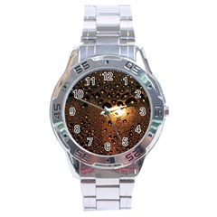 Condensation Abstract Stainless Steel Analogue Watch by Sapixe