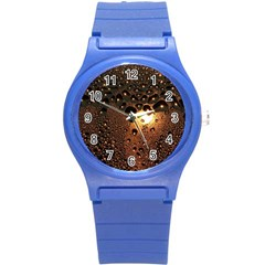 Condensation Abstract Round Plastic Sport Watch (s) by Sapixe
