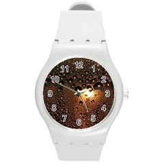 Condensation Abstract Round Plastic Sport Watch (m) by Sapixe