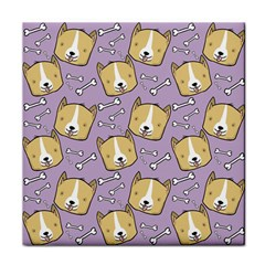 Dog Pattern Tile Coasters by Sapixe