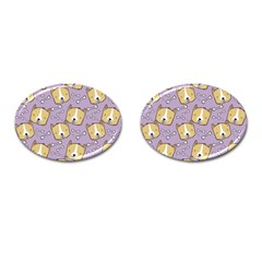 Dog Pattern Cufflinks (oval) by Sapixe
