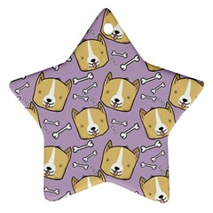 Dog Pattern Star Ornament (two Sides) by Sapixe