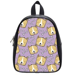 Dog Pattern School Bag (small)