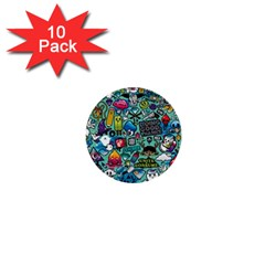 Comics Collage 1  Mini Buttons (10 Pack)