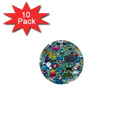 Comics Collage 1  Mini Magnet (10 Pack)