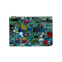 Comics Collage Cosmetic Bag (medium)  by Sapixe