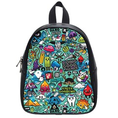 Comics Collage School Bag (small) by Sapixe