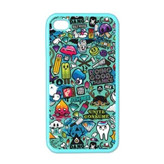 Comics Collage Apple Iphone 4 Case (color) by Sapixe