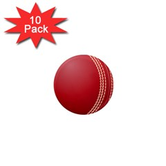 Cricket Ball 1  Mini Magnet (10 Pack)  by Sapixe