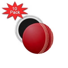 Cricket Ball 1 75  Magnets (10 Pack)  by Sapixe
