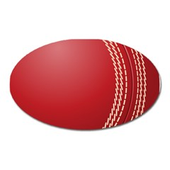 Cricket Ball Oval Magnet by Sapixe