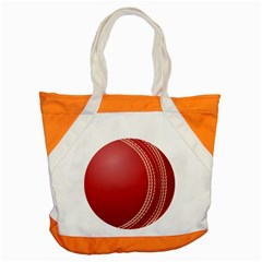 Cricket Ball Accent Tote Bag