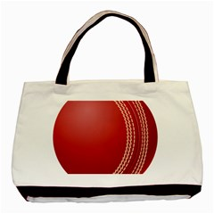 Cricket Ball Basic Tote Bag (two Sides) by Sapixe