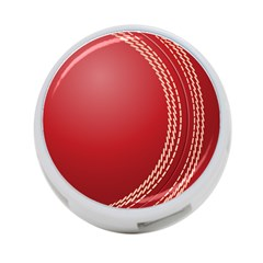 Cricket Ball 4 Port Usb Hub (one Side) by Sapixe