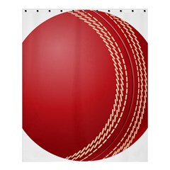 Cricket Ball Shower Curtain 60  X 72  (medium)  by Sapixe