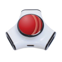 Cricket Ball 3 Port Usb Hub by Sapixe