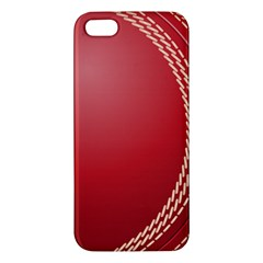 Cricket Ball Apple Iphone 5 Premium Hardshell Case by Sapixe