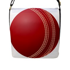 Cricket Ball Flap Messenger Bag (l)  by Sapixe