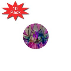 Crystal Flower 1  Mini Buttons (10 Pack)