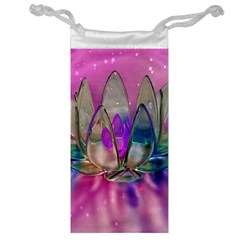 Crystal Flower Jewelry Bag
