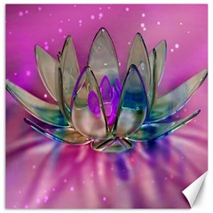 Crystal Flower Canvas 12  X 12   by Sapixe