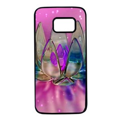 Crystal Flower Samsung Galaxy S7 Black Seamless Case by Sapixe