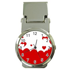 Heart Shape Background Love Money Clip Watches