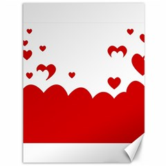 Heart Shape Background Love Canvas 36  X 48