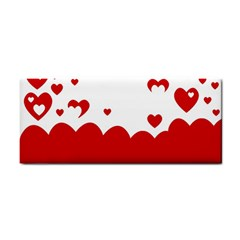Heart Shape Background Love Cosmetic Storage Cases