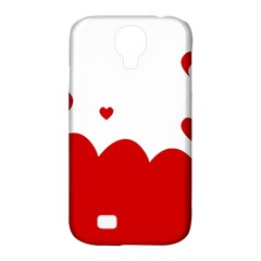 Heart Shape Background Love Samsung Galaxy S4 Classic Hardshell Case (pc+silicone)