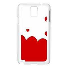 Heart Shape Background Love Samsung Galaxy Note 3 N9005 Case (white)