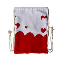 Heart Shape Background Love Drawstring Bag (small)