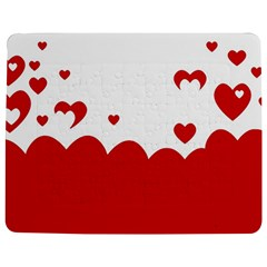 Heart Shape Background Love Jigsaw Puzzle Photo Stand (rectangular) by Nexatart