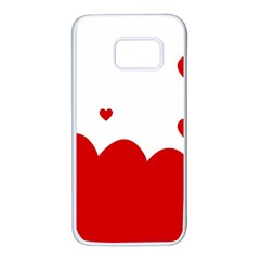 Heart Shape Background Love Samsung Galaxy S7 White Seamless Case