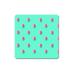 Love Heart Set Seamless Pattern Square Magnet