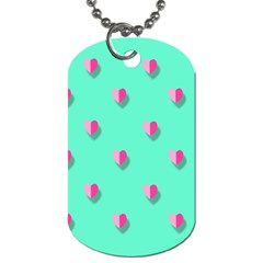 Love Heart Set Seamless Pattern Dog Tag (one Side)