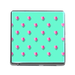 Love Heart Set Seamless Pattern Memory Card Reader (square)