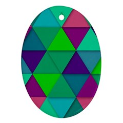 Background Geometric Triangle Oval Ornament (two Sides)