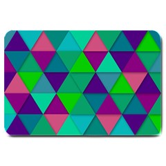 Background Geometric Triangle Large Doormat  by Nexatart