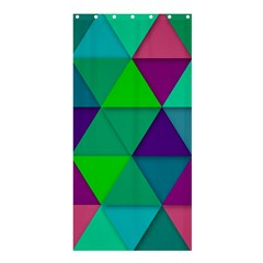 Background Geometric Triangle Shower Curtain 36  X 72  (stall)