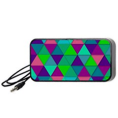 Background Geometric Triangle Portable Speaker by Nexatart