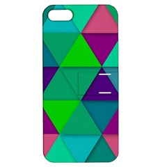 Background Geometric Triangle Apple Iphone 5 Hardshell Case With Stand