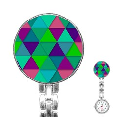 Background Geometric Triangle Stainless Steel Nurses Watch