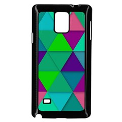 Background Geometric Triangle Samsung Galaxy Note 4 Case (black) by Nexatart