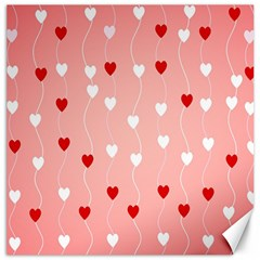 Heart Shape Background Love Canvas 12  X 12