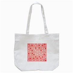 Heart Shape Background Love Tote Bag (white) by Nexatart