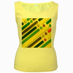 Background Vintage Desktop Color Women s Yellow Tank Top