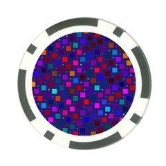 Squares Square Background Abstract Poker Chip Card Guard (10 Pack) by Nexatart