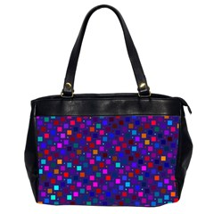 Squares Square Background Abstract Office Handbags (2 Sides)