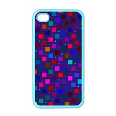 Squares Square Background Abstract Apple Iphone 4 Case (color)